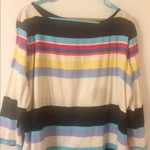 Talbots striped colorful shirt, 3/4 sleeves